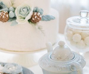 cake, lovely, and tea image