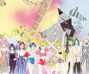 sailor moon, artbook, and sailor soldiers image