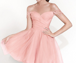 prom dress, short prom dress, and adorable prom dress image