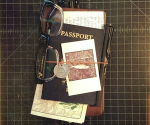 travel, passport, and vintage image