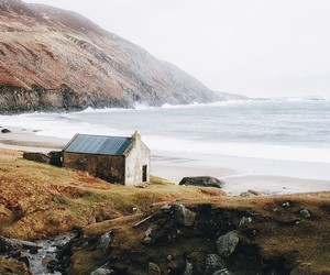 nature, sea, and house image