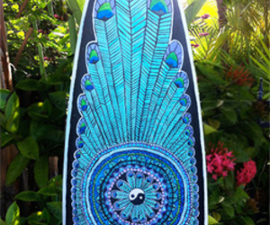 blue, summer, and surfboard image