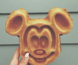food, waffles, and disney image