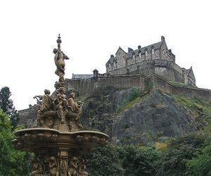 edinburgh castle, europe, and scotland image