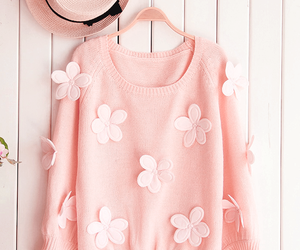 pink, flowers, and fashion image