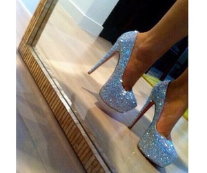 heels, shoes, and christian louboutin image