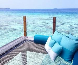 beach, bora bora, and Caribbean image