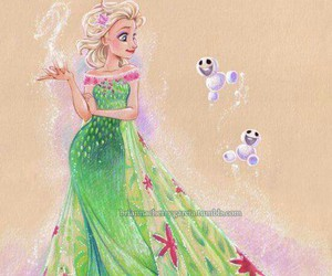 frozen, elsa, and frozen fever image