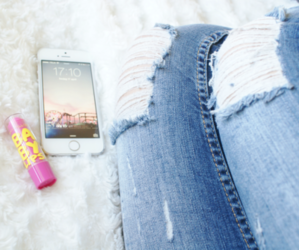 fashion, jeans, and baby lips image