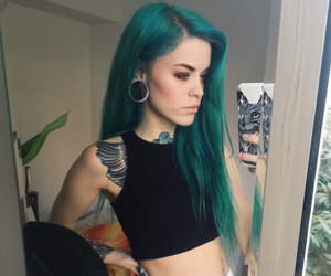alt girl, dyed hair, and girl image