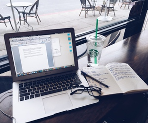 study, starbucks, and glasses image