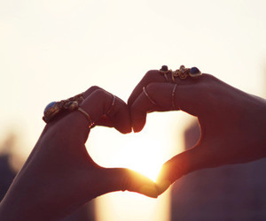 heart, rings, and photography image