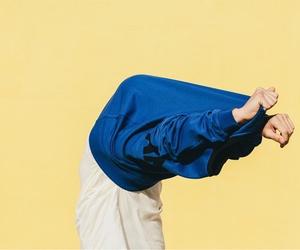 yellow, blue, and minimalist image