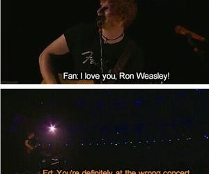 ed sheeran, concert, and ron weasley image