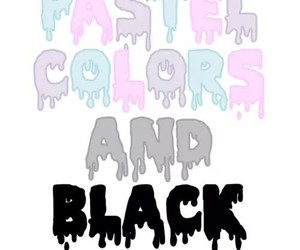 black, pastel, and pastel goth image