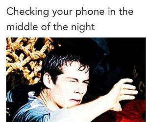 funny, phone, and night image