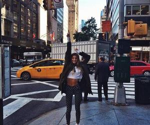 girl, new york, and travel image