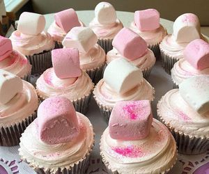 creamy, cupcakes, and marshmallows image
