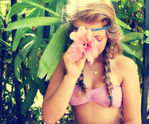 bikini, headband, and summer image