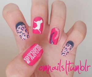 pink, nails, and Victoria's Secret image