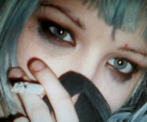 Crystal Castles, Alice Glass, and cigarette image