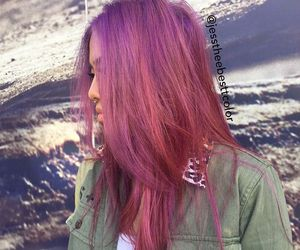 beauty, fashion, and pink hair image