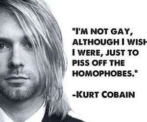 kurt cobain, nirvana, and quote image