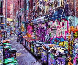 beautiful, colorful, and graffiti image