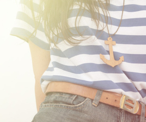 fashion, girl, and anchor image