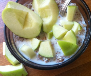 apple, cereal, and fitness image