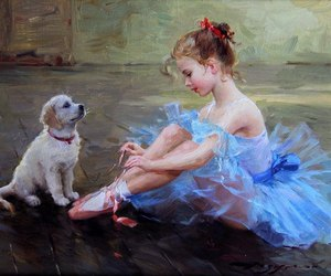 ballerina, draw, and friend image