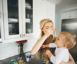 baby boy, eat, and smile image
