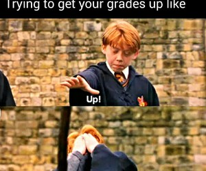 grades, ron weasley, and harry potter image