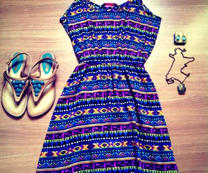 accessories, boho, and dress image