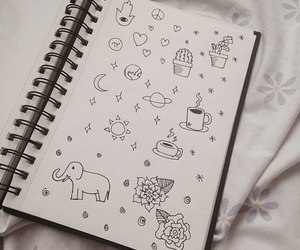 doodle, journal, and drawing image