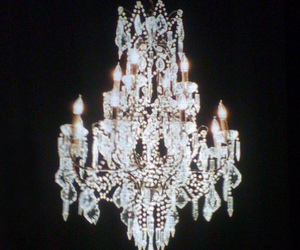 light, grunge, and chandelier image