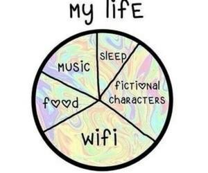 food, wifi, and music image