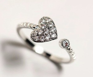 heart, ring, and fashion image