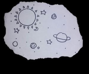 drawing, galaxy, and hand-drawn image
