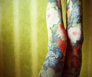 legs, flowers, and floral image