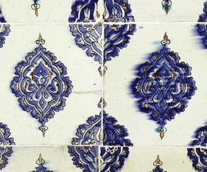 blue, paint, and tiles image