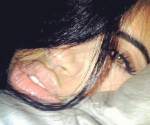 girl, eyes, and lips image