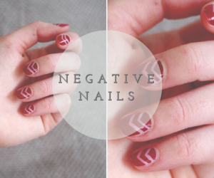 nails, negative, and red image
