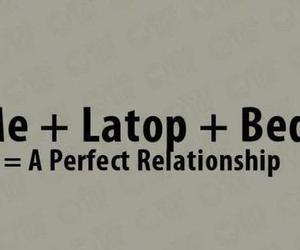 laptop, Relationship, and bed image