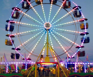 amusement park, carnival, and travel image