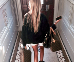girl, fashion, and Louis Vuitton image