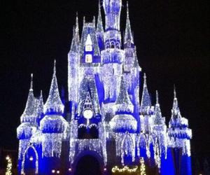 castle, christmas, and disney image