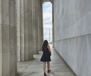 columns, girl, and stone image