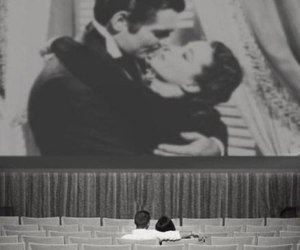Gone with the Wind, hollywood, and kiss image