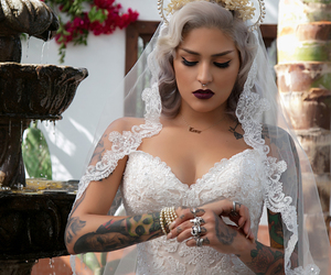 wedding, tattoo, and bride image
